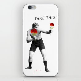 Floral fight - humor iPhone Skin