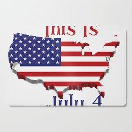 July 4 1776 America Cutting Board