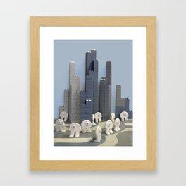 Un jour j'irai à New-York avec toi Framed Art Print
