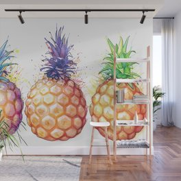 Three Pineapples Wall Mural