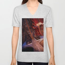 Looking Up - Albi Cathedral Unisex V-Neck