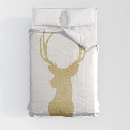 Gold Glitter Reindeer Comforters