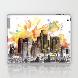 Los Angeles Cityscape Skyline Painting Laptop & iPad Skin
