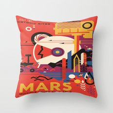Mars Tour : Space Galaxy Throw Pillow