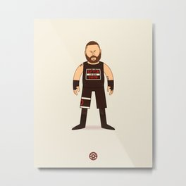 KO Mania (Wrestler Illustration) Metal Print