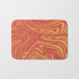 Red marble pattern with golden tint Bath Mat