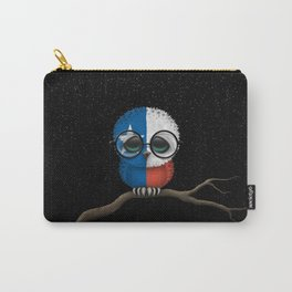 Baby Owl with Glasses and Texas Flag Carry-All Pouch