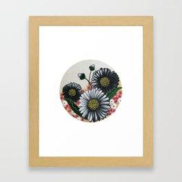 Large Daisy Trio Framed Art Print