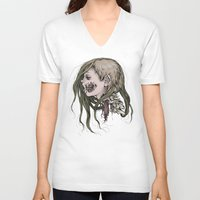 gore V-neck T-shirts featuring Gore Girl by Savannah Horrocks