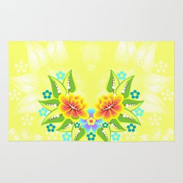 Abstract floral background Rug