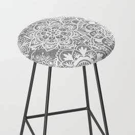 Soft Grey Mandala Pattern Bar Stool