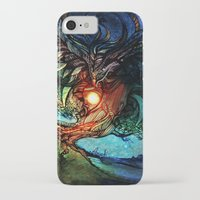 shadow of the colossus iPhone & iPod Cases featuring Colossus by Tatiana Anor