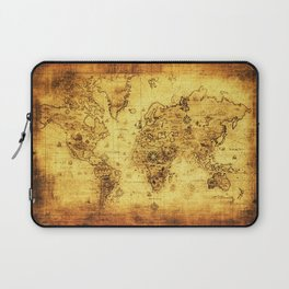 Arty Vintage Old World Map Laptop Sleeve