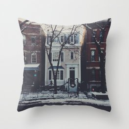 Snowy Chicago Throw Pillow