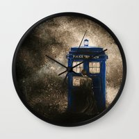 dr who Wall Clocks featuring Dr. Who by Redeemed Ink by - Kagan Masters