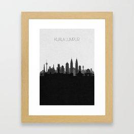City Skylines: Kuala Lumpur Framed Art Print