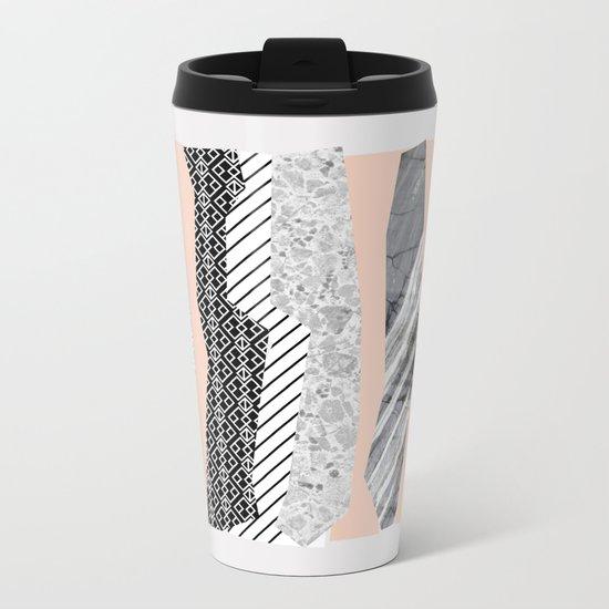 Geometric shapes 02 Metal Travel Mug