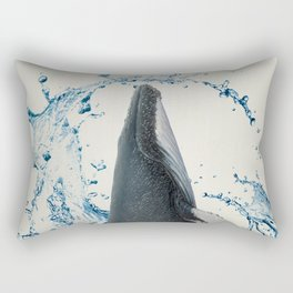 Dancing Whale Rectangular Pillow