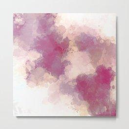 Mauve Dusk Abstract Cloud Design Metal Print