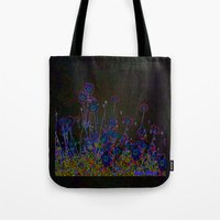 leather Tote Bags featuring Leather floral by Lydia Cheval