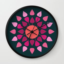 MCM Hydrangea Wall Clock