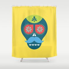 Mouscacho Skull 1 Shower Curtain