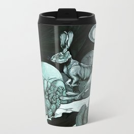 Jackrabbit Brings the News Metal Travel Mug
