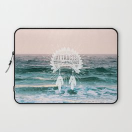 Your Vibe Attracts Your Tribe - Ocean Sunset Laptop Sleeve