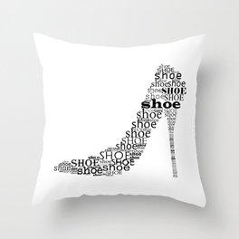 Typographic Shoe Throw Pillow