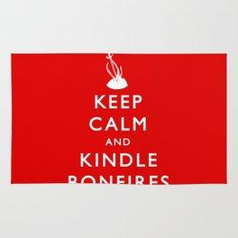Keep Calm & Kindle Bonfires Rug