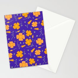 Poppies on Purple Stationery Cards
