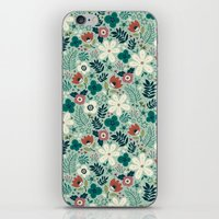 garden iPhone & iPod Skins featuring Flower Garden by Anna Deegan