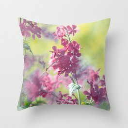 #Stunning #flowers #pattern in #soft #colors and #big #shades Throw Pillow