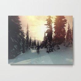 Sunrise Snowshoe Metal Print