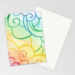 Rainbow Swirls Stationery Cards