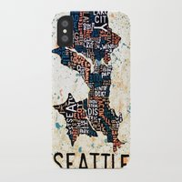 seattle iPhone & iPod Cases featuring Seattle by Artful Schemes