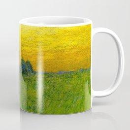 Haystacks amid a Golden Sunset landscape by Charles Warren Eaton Coffee Mug