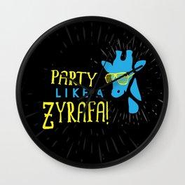 Party Like a Zyrafa! Wall Clock