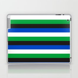 Torres Strait Islander flag stripes Laptop & iPad Skin