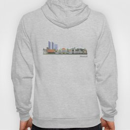 Munich skyline colored Hoody