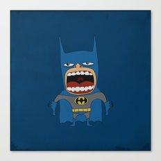 Screaming Batdude Canvas Print