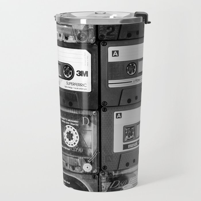 Something Nostalgic - black and white #decor #society6 #buyart Travel Mug