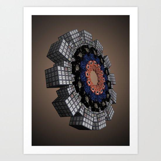 Core Encryption Art Print