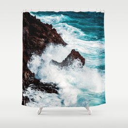 CONFRONTING THE STORM / Lanzarote, Spain Shower Curtain