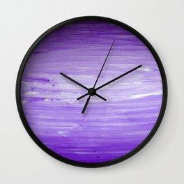 Purple Ombre Stripes Wall Clock