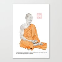 buddha Canvas Prints featuring Buddha by Bryan James