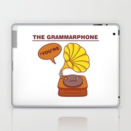 The Grammarphone - Funny Gramophone Wordplay Laptop & iPad Skin