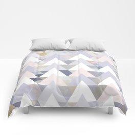 Pastel Graphic Winter Peaks on Geometry #abstractart Comforters