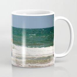 Man Fishing In The Surf Coffee Mug