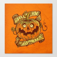 Halloween orange Canvas Print